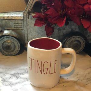 Rae Dunn Red Inside JINGLE Christmas  Mug